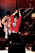 Simon Le Bon of Duran Duran performing live 1986