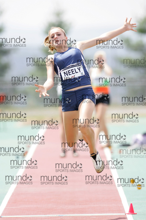 (Sherbrooke, Canada---21 July 2006) Taylor Neely competing in the qualifying round of the Junior Women's Long Jump at the 2006 Canadian Junior Track and Field Championships and Canadian Multi-Events Championships 21-23 July 2006 held in Sherbrooke Quebec. Copyright 2006 Sean Burges / Mundo Sport Images, www.mundosportimages.com