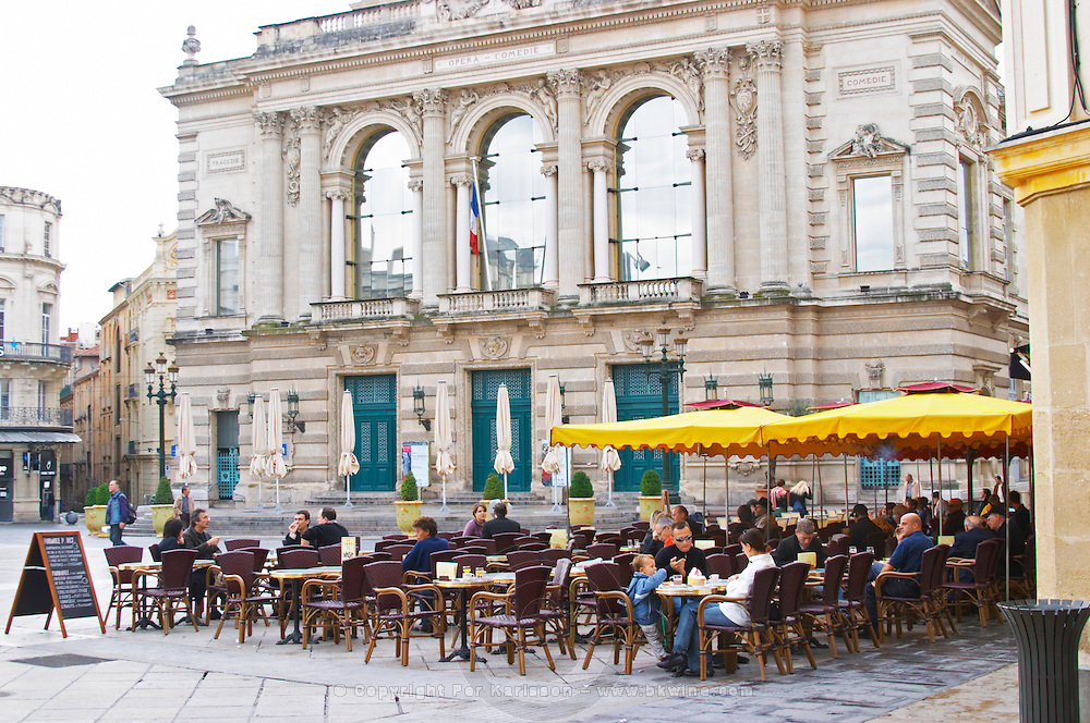 The opera and theatre on the main square. Montpellier. Languedoc. France. Europe.