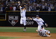 Rays vs Boston Red Sox -- St. Pete -- Tropicana Field -Rays celebrate win against the Red Sox in the ALCS game 7 Sunday at Tropicana Field. Michael Spooneybarger/Tampa Tribune