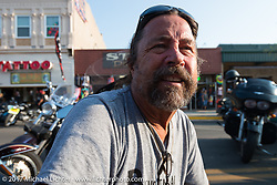 Main Street during the annual Sturgis Black Hills Motorcycle Rally. Sturgis, SD. USA. Saturday August 12, 2017.  Photography ©2017 Michael Lichter.