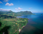 Kaneohe Bay, Kaneohe, Oahu, Hawaii USA<br />