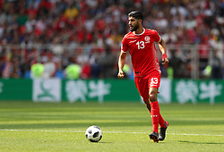 June 23, 2018 - Moscou, Rússia - MOSCOU, MO - 23.06.2018: BÉLGICA Y TÚNEZ - Ferjani SASSI of Tunisia during the match between Belgium and Tunisia valid for the 2018 World Cup held at the Otkrytie Arena (Spartak) in Moscow, Russia. (Credit Image: © Rodolfo Buhrer/Fotoarena via ZUMA Press)