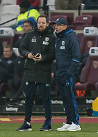 Football - 2016 / 2017 Premier League - West Ham United vs. West Bromwich Albion<br /> <br /> West Bromwich Manager Tony Pulis and Assistant Ben Gamer at the London Stadium.<br /> <br /> COLORSPORT/DANIEL BEARHAM