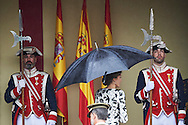 Queen Letizia of Spain attended the National Day military parade on October 12, 2016 in Madrid, Spain.