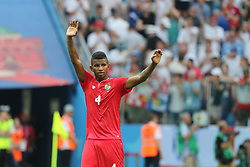 June 24, 2018 - Nizhny Novgorod, Russia - June 24, 2018, Russia, Nizhny Novgorod, FIFA World Cup 2018, First round, Group, Second round. Football match of England - Panama at the stadium Nizhny Novgorod. Player of the national team Panama Fidel Escobar. (Credit Image: © Russian Look via ZUMA Wire)