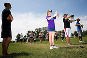 The Oregon Marching Band practices in Suttons Bay, Michigan on July 10, 2009.