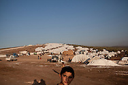The internal displacement camp in Atmeh, on the Syrian border with Turkey. Around 12,000 IDP now live in the camp. December 2nd 2012, Atmeh, Syria.