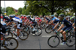 Image ©Licensed to i-Images Picture Agency. 07/07/2014. London, United Kingdom. Riders pass through Woodford Green in London on their way to the Mall on stage 3 of the final UK leg of Tour de France . Picture by Andrew Parsons / i-Images