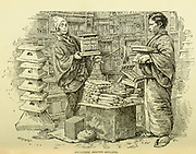Japanese Shrine Sellers from the book ' Rambles in Japan : the land of the rising sun ' by Tristram, H. B. (Henry Baker), 1822-1906. Publication date 1895. Publisher New York : Revell