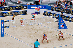 View on the court at A1 Beach Volleyball Grand Slam tournament of Swatch FIVB World Tour 2010, on July 27, 2010 in Klagenfurt, Austria. (Photo by Matic Klansek Velej / Sportida)