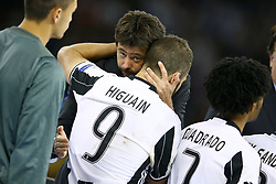 June 3, 2017 - Cardiff, Walles, United Kingdom - Juventus chairman Andrea Agnelli comforting Gonzalo Higuain of Juventus during the UEFA Champions League Final between Juventus and Real Madrid at National Stadium of Wales on June 3, 2017 in Cardiff, Wales. (Credit Image: © Matteo Ciambelli/NurPhoto via ZUMA Press)