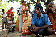 """Photo by Heathcliff Omalley..Nandigram, West Bengal, India 22 March 2007..People in the outlying villages of the town of Nandigram, where 14 civillians were killed last week during protests against State Goverment's intended forced aquisition of their land for a """"Special Economic Zone."""