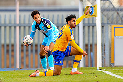 Jamie Reid of Mansfield Town appeals against a decision given against his side - Mandatory by-line: Ryan Crockett/JMP - 20/02/2021 - FOOTBALL - One Call Stadium - Mansfield, England - Mansfield Town v Cambridge United - Sky Bet League Two
