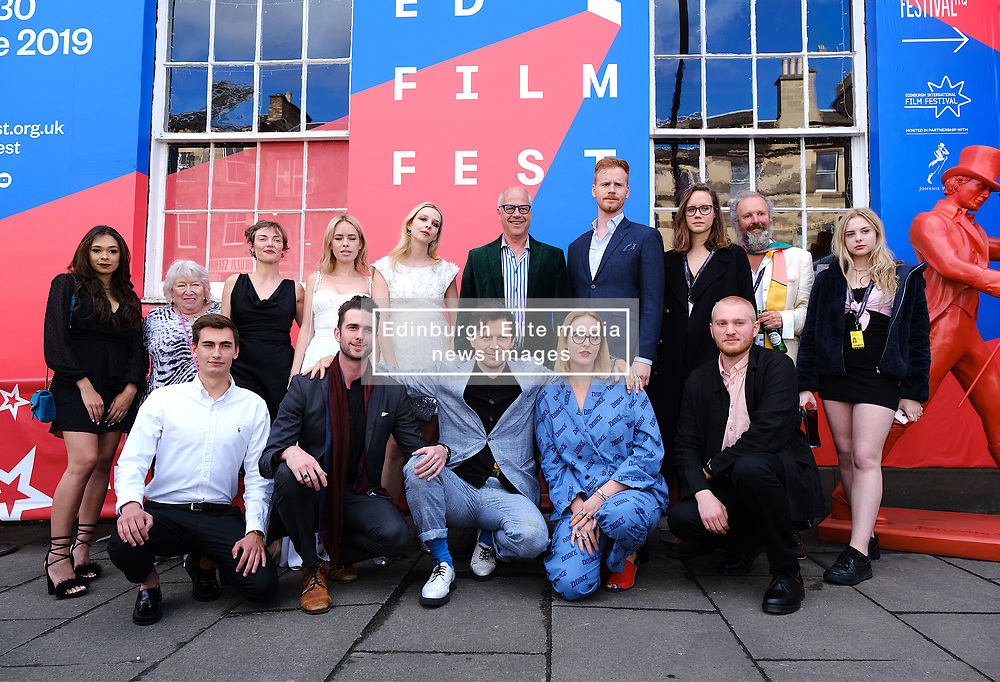 Edinburgh International Film Festival 2019<br /> <br /> Hurt By Paradise (World Premiere)<br /> <br /> Stars and guests arrive on the red carpet for the world premiere<br /> <br /> Pictured: cast and crew<br /> <br /> Aimee Todd | Edinburgh Elite media