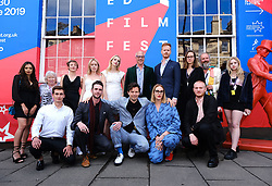 Edinburgh International Film Festival 2019<br /> <br /> Hurt By Paradise (World Premiere)<br /> <br /> Stars and guests arrive on the red carpet for the world premiere<br /> <br /> Pictured: cast and crew<br /> <br /> Aimee Todd   Edinburgh Elite media