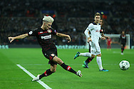 Kevin Kampl of Bayer Leverkusen in action. UEFA Champions league match, group E, Tottenham Hotspur v Bayer Leverkusen at Wembley Stadium in London on Wednesday 2nd November 2016.<br /> pic by John Patrick Fletcher, Andrew Orchard sports photography.