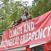 Climate Emergency Now demonstration at Parliament Square on 1 st May 2019, London, UK.