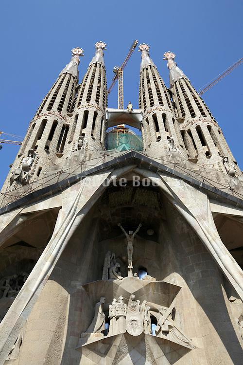 Passion facade Sagrada Familia Barcelona Spain