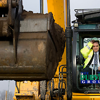 Scotland's First Minister Alex Salmond visits Diageo's Cameronbridge Distillery in Fife to mark the construction of a £65 million bioenergy facility..28/1/2009.Picture Michael Hughes/Maverick