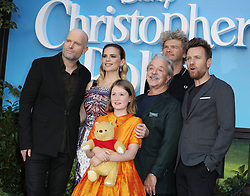 (Left to right) Director Marc Forster, Hayley Atwell, Bronte Carmichael, Jim Cummings, Simon Farnaby and Ewan McGregor attend the European premiere of Christopher Robin at the BFI Southbank in London.