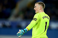 Everton Goalkeeper Jordan Pickford looks on. Premier league match, Everton vs Watford at Goodison Park in Liverpool, Merseyside on Sunday 5th November 2017.<br /> pic by Chris Stading, Andrew Orchard sports photography.