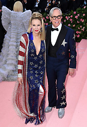 """Tommy Hilfiger and Dee Ocleppo at the 2019 Costume Institute Benefit Gala celebrating the opening of """"Camp: Notes on Fashion"""".<br />(The Metropolitan Museum of Art, NYC)"""