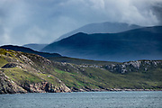 The Highlands of Scotland seen from Ullapool ferry. UK, Europe.
