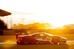 June 17, 2018 - Le Mans, France - 68 FORD CHIP GANASSI TEAM USA (USA) FORD GT GTE PRO JOEY HAND (USA) DIRK MUELLER (DEU) SEBASTIEN BOURDAIS  (Credit Image: © Panoramic via ZUMA Press)
