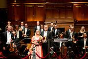 Koningin Maxima is aanwezig bij de opening van het nieuwe seizoen van het Koninklijk Concertgebouworkest.<br /> <br /> Queen Maxima is present at the opening of the new season of the Royal Concertgebouworkest.<br /> <br /> Op de foto / On the photo:  dirigent Thomas Hengelbrock en de Duitse sopraan Diana Damrau