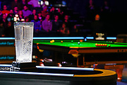 Todays winner will lift the Stephen Hendry Trophy, Action from the first session of  the World Snooker 19.com Scottish  Open Final Mark Selby vs Jack Lisowski gets underway at the Emirates Arena, Glasgow, Scotland on 15 December 2019.