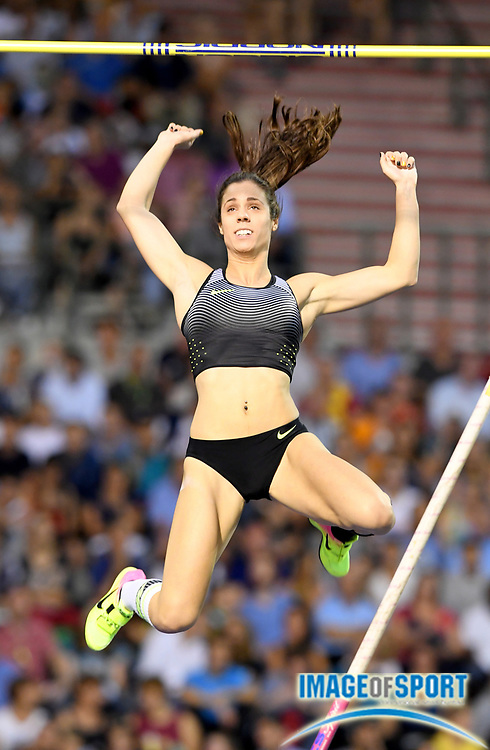 Sep 9, 2016; Brussels, Belgium; Katerina Stefanidi (GRE) places second in the women's pole vault at 15-7¼ (4.76m) in the 41st Memorial Van Damme at King Baudouin Stadium. Photo by Jiro Mochiuzki