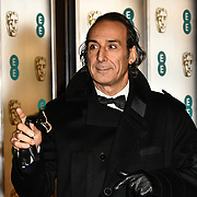 Alexandre Desplat Arrivers at EE British Academy Film Awards in 2019 after-party dinner at Grosvenor house on 10 Feb 2019.