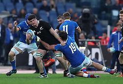 November 24, 2018 - Rome, Italy - Italy v New Zealand All Blacks - Rugby Cattolica Test Match.New Zealands Scott Barrett at Olimpico Stadium in Rome, Italy on November 24, 2018. (Credit Image: © Matteo Ciambelli/NurPhoto via ZUMA Press)