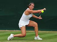 Tennis - 2019 Wimbledon Championships - Week Two, Wednesday (Day Nine)<br /> <br /> Girls's Singles, Quarter-Final: Emma Navarro (USA) v Katrina Scott (USA)<br /> <br /> Emma Navarro on  Court 7.<br /> <br /> COLORSPORT/ANDREW COWIE