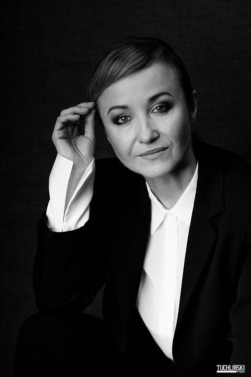 Warszawa, Polska; 18.02.2019r. Gabriela Muskała - aktorka, dramatopisarka.<br /> Fot. Adam Tuchlinski dla Playboy