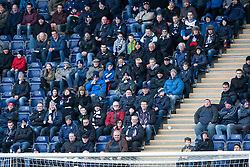 Fans in the South Stand. Falkirk 1 v 1 Morton, Scottish Championship game today at The Falkirk Stadium. © Michael Schofield.