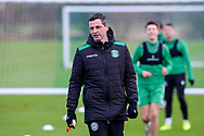 Hibernian FC manager, Jack Ross during the Hibernian training session at Hibernian Training Centre, Ormiston, Scotland on 27 November 2020, ahead of their Betfred Cup match against Dundee.