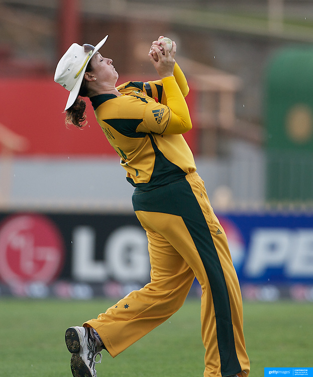 Australian captain  Karen Rolton catches Amy Satterthwaite off the bowling of  Lisa Sthalekar during the Australia V New Zealand group A match at North Sydney Oval in the ICC Women's World Cup Cricket Tournament, in Sydney, Australia on March 8, 2009. New Zealand beat Australia by 13 runs in the (D/L method)  rain affected match. Photo Tim Clayton