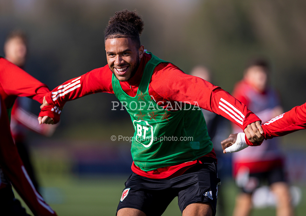 CARDIFF, WALES - Wednesday, October 7, 2020: Wales' Tyler Roberts during a training session at the Vale Resort ahead of the International Friendly match against England. (Pic by David Rawcliffe/Propaganda)