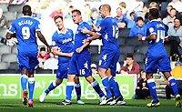 League One - 06/10/2012 - MK Dons vs Portsmouth at Stadium MK<br /> Portsmouth's Gabor Gyepes celebrates scoring their second goal