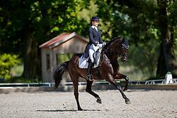 NUXOLL Sandra (AUT), Hanami<br /> Redefin - Pferdefestival 2018<br /> Nürnberger Burg Pokal Qualifikation<br /> 05. Mai 2018<br /> www.sportfotos-lafrentz.de/Stefan Lafrentz