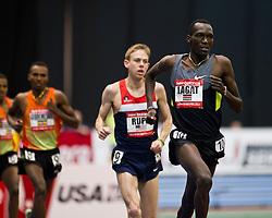 New Balance Indoor Grand Prix track meet: Men's 3000 meter, Haron Lagat paces Rupp, Gebremeskel