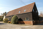 House in converted barn, Shottisham, Suffolk, England, UK
