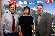 25/09/2018 Repro free: Aodhan Fitzgerald Marine Institute and Zoe Coyle Renvyle House and Michael Moloney GM Galway Race Course at the launch of Galway Racecourse  details of their new and exciting three-day October Festival that takes place over the Bank Holiday weekend, Saturday 27th, Sunday 28th and Monday 29th continuing racing and glamour into the Autumn.<br />   Each of the three race days offers something for all the family to enjoy, with a special theme attached to each day, together with fantastic horse racing, live music, delicious hospitality, entertainment and of course the meeting of old friends and new at Ballybrit.  <br /> Halloween Family Fun <br /> On Saturday 27th October come along with your children and grand children and enjoy the 'Spooktacular' Halloween themed family fun day with lots of entertainment including a fancy-dress competition, Halloween games and face painting to mention but a few!! All weekend children under 16 years of age have free admission. <br /> Race in Pink <br /> As part of this new October Festival and with-it being Breast Cancer Awareness month, Galway Racecourse have partnered with The National Breast Cancer Research Institute to host a dedicated fundraiser on Sunday 28th October called 'Race in Pink'.  <br /> <br /> Student Race Day in aid of the Voluntary Services Abroad <br /> Monday sees the return of our annual 'Student Race Day' in conjunction with the Voluntary Services Abroad (a medical aid charity run by the fourth-year medical students of NUI, Galway), and the NUIG Rugby Club.  Each year, this fundraising day for the student organisations raises a tremendous amount of money for their chosen projects including the VSA annual summer volunteer trip to Africa where they use the funds raised to help projects at the hospitals they visit. <br />  National hunt racing on Saturday kicks off at 2.05pm with racing Sunday and Monday off at 1.05pm. Adult admission on all three days is €15 with children under 16 years of age