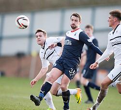 Raith Rovers John Baird and Falkirk's Mark Millar.<br /> Raith Rovers 2 v 4 Falkirk, Scottish Championship game today at Starks Park.<br /> © Michael Schofield.