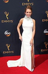 Holly Taylor arriving for The 68th Emmy Awards at the Microsoft Theater, LA Live, Los Angeles, 18th September 2016.