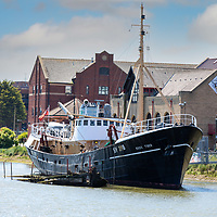 09/06/21 Ross Tiger Side Trawler alongside the Grimsby Fishing Heritage Centre