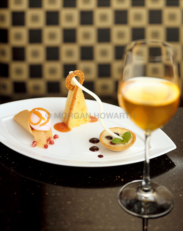 Desert plate from Meritage Restaurant in Boston Harbor Hotel, 2nd level70 Rowes Wharf Boston, MA 02110