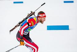 Simon Eder (AUT) during Single Mixed Relay at day 1 of IBU Biathlon World Cup 2018/19 Pokljuka, on December 2, 2018 in Rudno polje, Pokljuka, Pokljuka, Slovenia. Photo by Ziga Zupan / Sportida